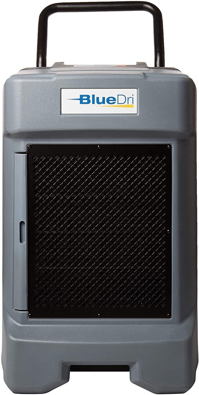 BlueDri BD-130P 225PPD Industrial Water Damage Equipment Commercial Dehumidifier with Hose for Basements in Homes and Job Sites