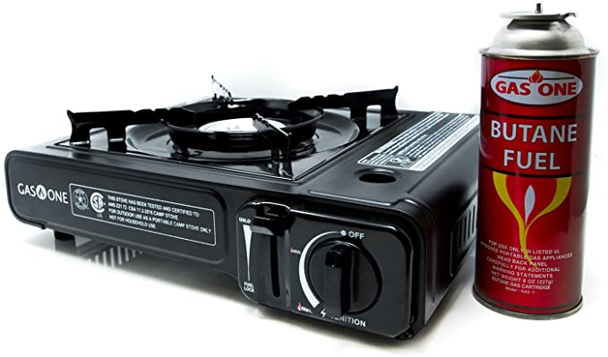 GAS ONE GS-3000 Portable Gas Stove with Carrying Case