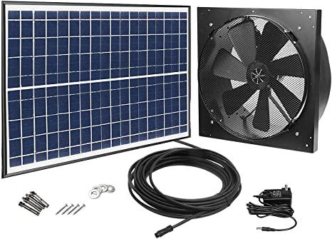 GBGS Solar Powered Exhaust Fan AC Power Backup