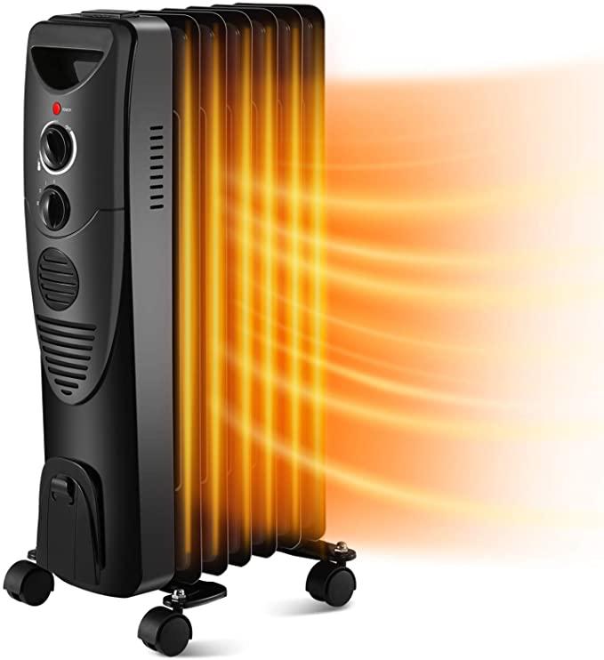 Kismile 1500W Oil-Filled Radiator Heater