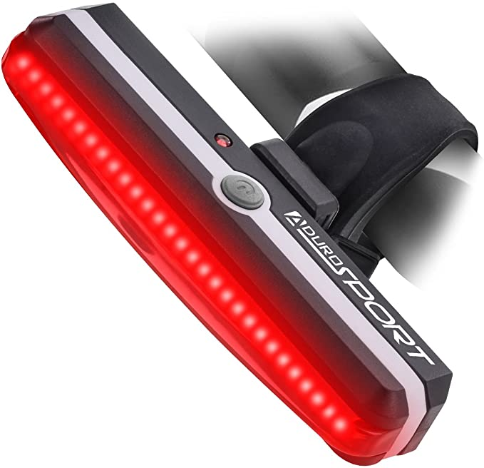 Aduro Sport LED Rear Bike Light USB Rechargeable - Ultra Bright Powerful Safety Taillight