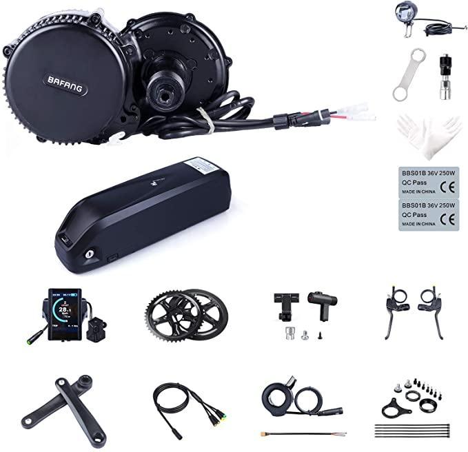 Bafang BBS02B 48V 750W Mid Drive Electric Bike Motor Ebike Conversion Kit
