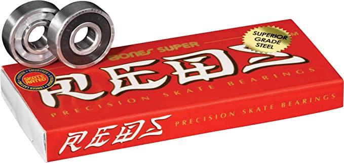 Bones Super Reds Skateboard Bearings 8 Pack