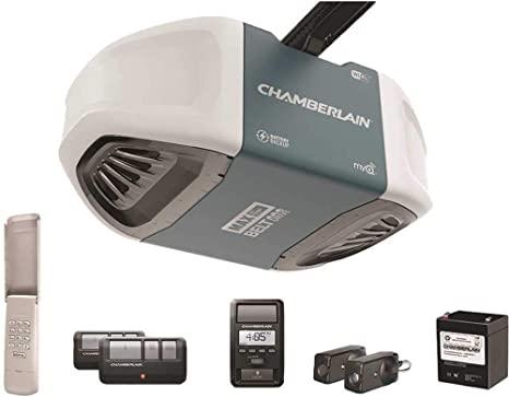 Chamberlain B970T Smart Garage Door Opener with Battery Backup - myQ Smartphone Controlled - Ultra Quiet