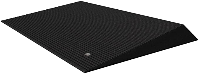 EZ-ACCESS TRANSITIONS Rubber Angled Entry Mat in Black