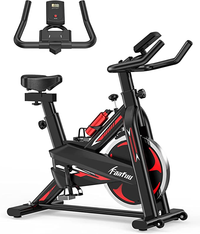 FaaFuu Exercise Bike - Indoor Cycling Bike for Home Gym with Comfortable Seat Cushion