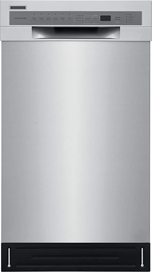 Frigidaire 18 in. ADA Compact Front Control Dishwasher in Stainless Steel with Dual Spray Arms