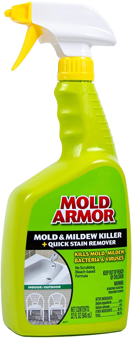 MOLD ARMOR FG502 Mold and Mildew Killer + Quick Stain Remover-Trigger Spray Bottle