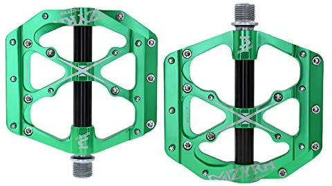 MZYRH 3 Bearings Mountain Bike Pedals Platform Bicycle Flat Alloy Pedals 9/16