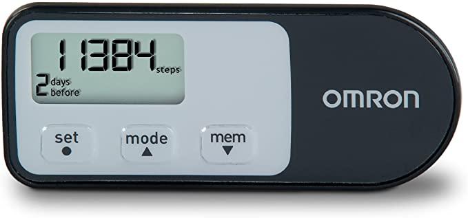 Omron Tri-Axis Alvita Optimized Pedometer - Features 4 Activity Modes - Black