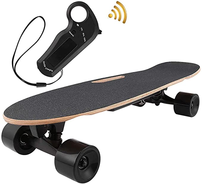 OppsDecor Electric Skateboard Youth Electric Longboard with Remote Control for Adults