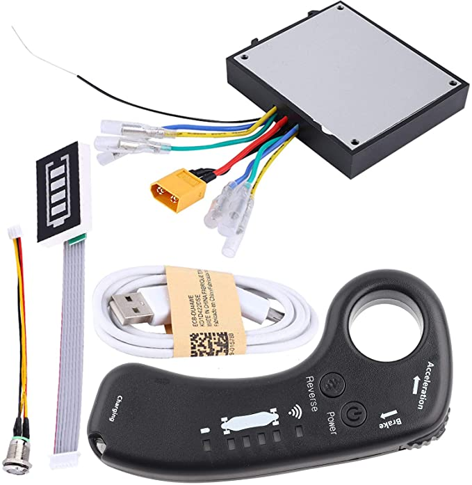 Pwshymi Electric Skateboard ESC Kit 36V Electric Skateboard Speed Controller Longboard Remote Control Dual Motors ESC Set