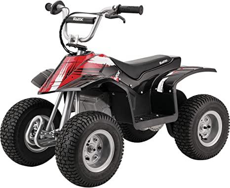 Razor Dirt Quad - 24V Electric 4-Wheeler ATV - Twist-Grip Variable-Speed Acceleration Control