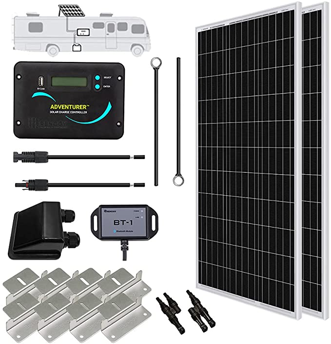 Renogy 200 Watts 12 Volts Monocrystalline Solar RV Kit