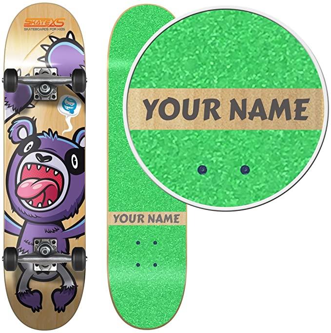 SkateXS Personalized Beginner Panda Street Kids Skateboard