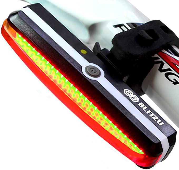 Ultra Bright Bike Light BLITZU Cyborg 168T USB Rechargeable Bicycle Tail Lights