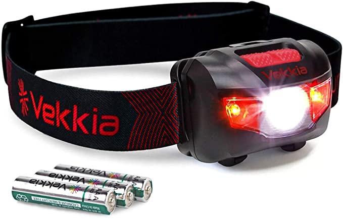 VEKKIA Ultra Bright LED Headlamp - 5 Lighting Modes