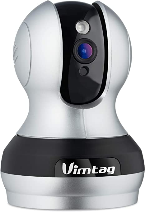 Vimtag VT-362 Smart IP Cloud Surveillance Camera - Wireless 24 Hour Monitoring with Pan and Tilt - 2 Way Audio - Supports Alexa