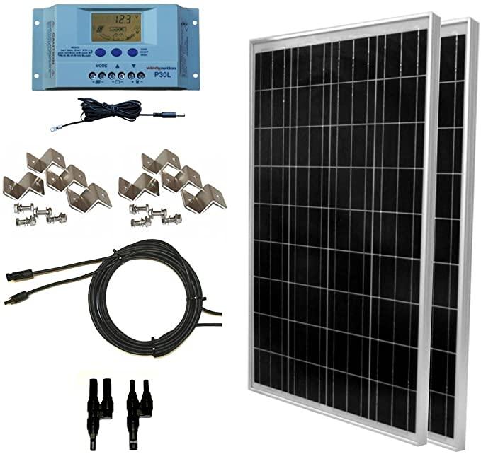 WindyNation 200 Watt Solar Panel Kit