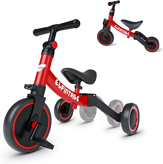 besrey 5 in 1 Toddler Bike for 1-4 Years Old Kids