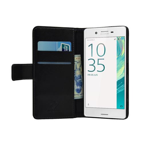 Membrane Sony Xperia X Case Black Genuine Leather